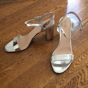 Silver straps heels
